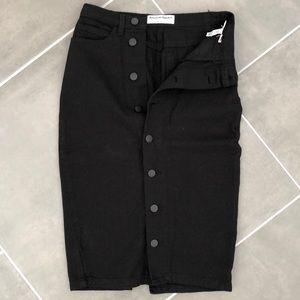 New American Apparel Black Jean Pencil Skirt